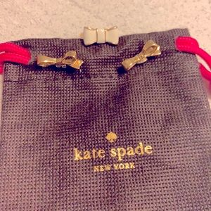 Kate spade bow earrings and ring
